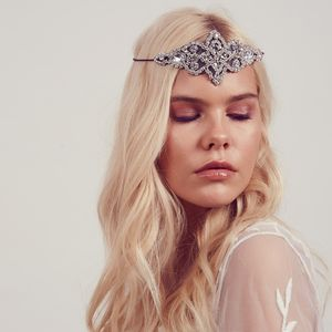 Cressida Rhinestone Halo Headband - bridal hairpieces