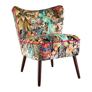Bartholomew Cocktail Chair In Rainforest Rabble Velvet - furniture