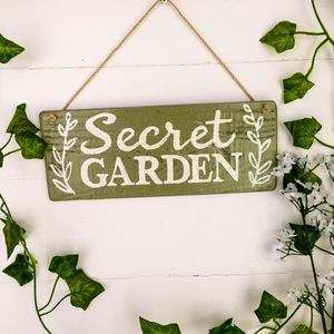 Personalised Wooden Garden Sign Letterbox Friendly - art & decorations