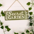 Personalised Wooden Garden Sign Letterbox Friendly