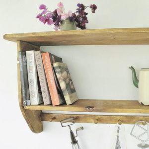 Farmhouse Kitchen Cook Book Shelf - furniture