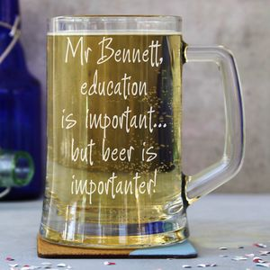 Teachers Personalised One Pint Stein Tankard - glassware
