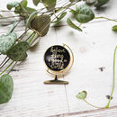 'Be The Good' Enamel Globe Pin