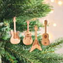 Bamboo Set Of Four Guitar Decorations