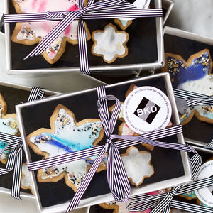 Personalised Christmas Snowflake Biscuit Gift Box