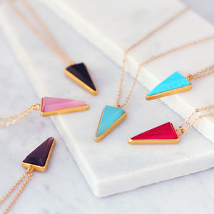 Colour Triangle Necklace