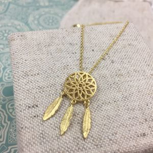 Lacata Dream Catcher Necklace - necklaces & pendants