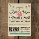 Vintage Bunting Kraft Wedding Invitation