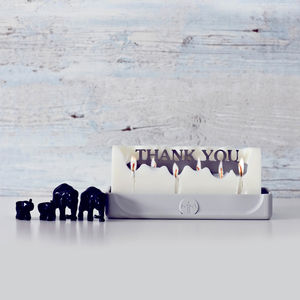 'Thank You' Hidden Message Candle - thank you gifts