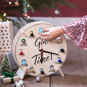 Gin O Clock Refillable Advent Calendar - clocks