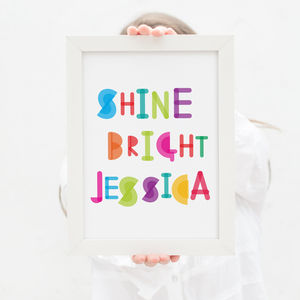 Personalised Shine Bright Name Print