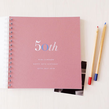 Personalised 50th Birthday Memory Book Or Album