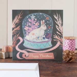 Winter Hare Christmas Card Pack Can Be Personalised