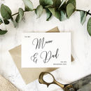 To My Mum And Dad On My Wedding Day Card