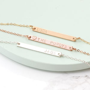 Minimalist Personalised Bar Necklace - necklaces & pendants