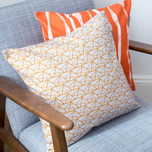 Geometric Triangles Cushion Cover