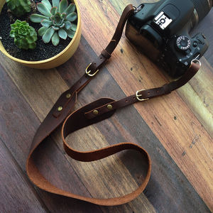 Handmade Leather Adjustable Camera Strap - 30th birthday gifts