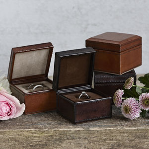 Leather Wedding Ring Box - jewellery storage & trinket boxes