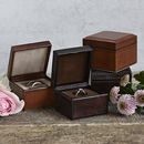 Personalised Leather Ring Box