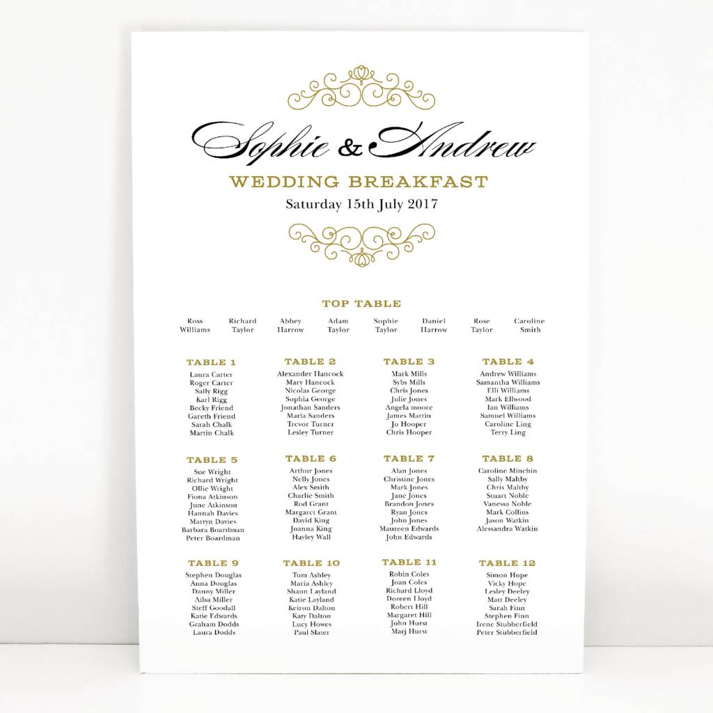 eva wedding table seating plan by project pretty