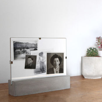 Modern Concrete Photo Stand