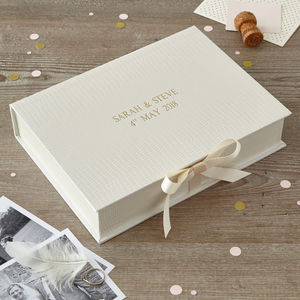 Personalised Wedding Keepsake Box - keepsake boxes
