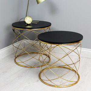 Gold Spiral Table Set - furniture