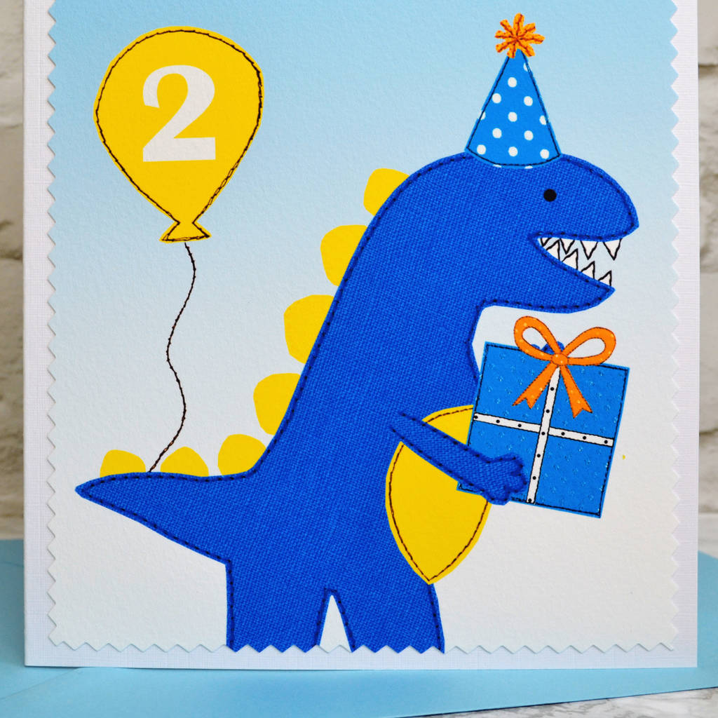 Dinosaur personalised birthday card for children by jenny arnott dinosaur personalised birthday card for children bookmarktalkfo Choice Image