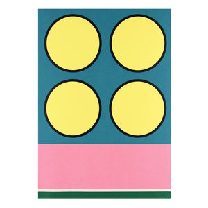'Fresh Leap' Mid Century Modern Screen Printed Wall Art