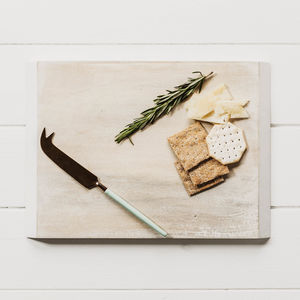 Mango Wood Cheeseboard And Knife Set - dining room