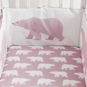 Polar Bear Cot Bumper - cot bedding
