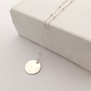 Silver Zodiac Constellation Necklace
