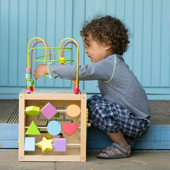 Wooden Activity Cube 2yrs+