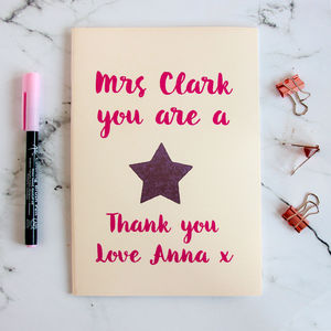 Personalised Teacher's Gift Notebook - notebooks & journals