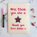 Personalised Teacher's Gift Notebook