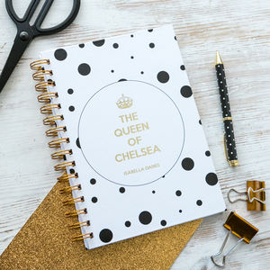 Personalised 'Queen Of…' Notebook