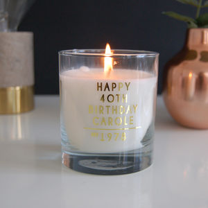 Totally Personalised Birthday Candle Gift - candles & home fragrance