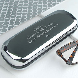 Personalised Chrome Glasses Case - gifts under £25