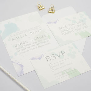 Amelia Pastel Watercolour Wedding Invitation - watercolour styling for weddings