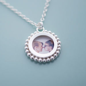 Silver Ball Photo Locket