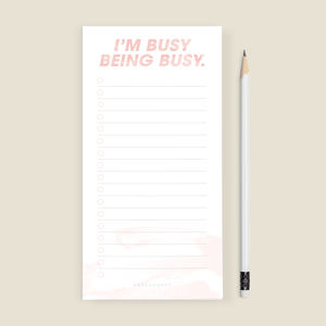 'Busy Being Busy' To Do List Notepad