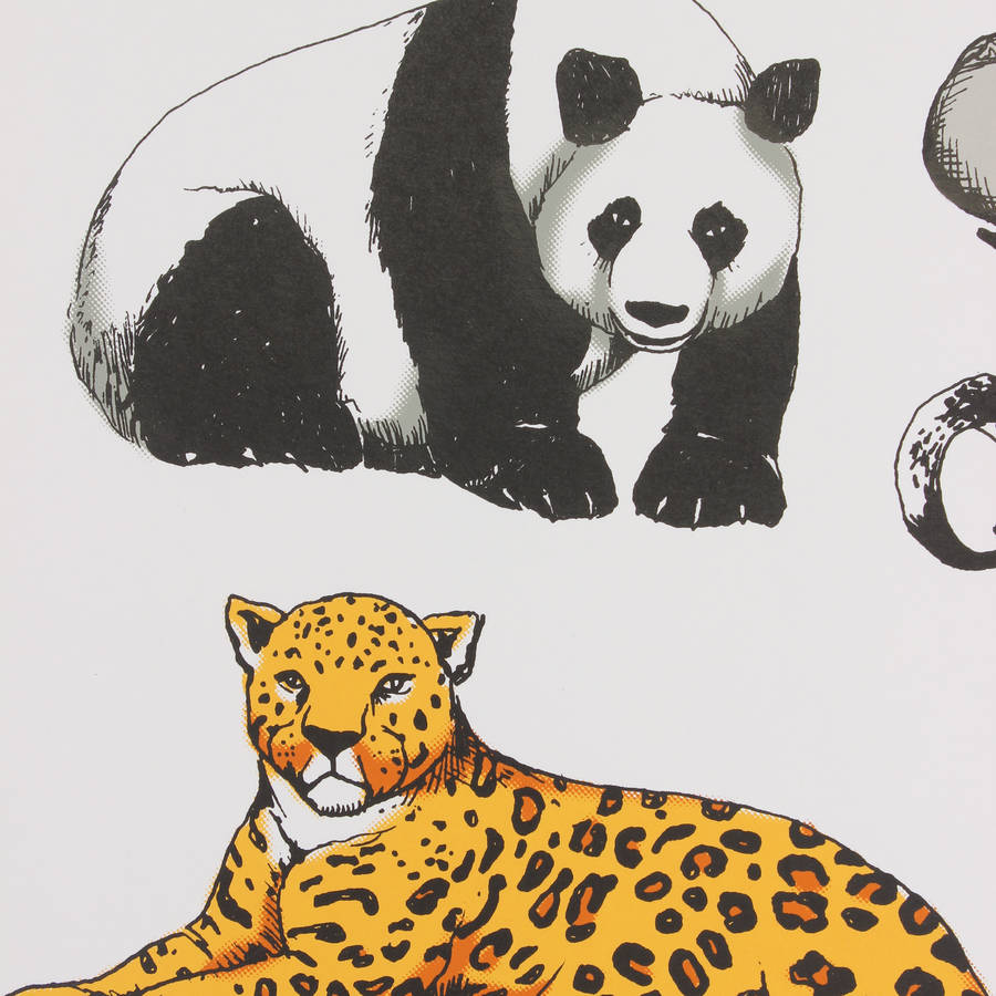 Uncategorized Pictures Of Animals To Print animals charity screen print by the arts project print