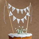 wedding cake bunting topper personalised