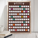 100 Coffee Scratch Bucket List Poster