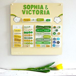Personalised Wooden Calendar