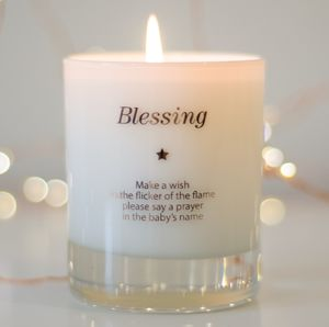 Make A Wish For A Blessing Candle - christening gifts