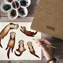 Otter Wrapping Paper Set