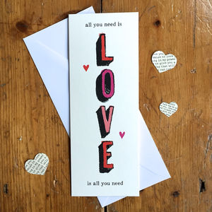 All You Need Is Love Card
