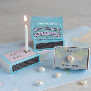Happy Birthday In A Matchbox