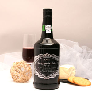 Personalised Birthday Port With Ornate Label - wines, beers & spirits